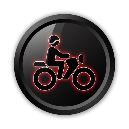 pushbuttons: Icon, Button, Pictogram with Motorbike Trail symbol