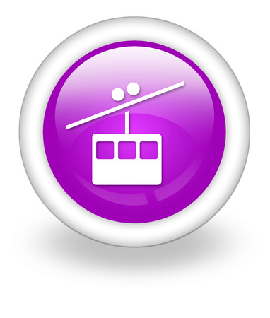 tramway: Icon, Button, Pictogram with Aerial Tramway symbol Stock Photo