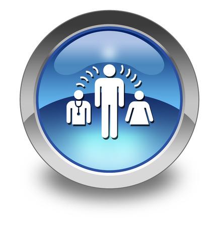 interpreter: Icon, Button, Pictogram with Interpreter Services symbol
