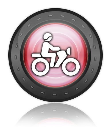 trail bike: Icon, Button, Pictogram with Motorbike Trail symbol