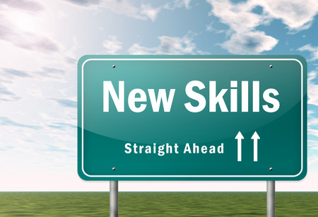 signpost: Signpost with New Skills wording