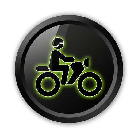 Icon, Button, Pictogram with Motorbike Trail symbol