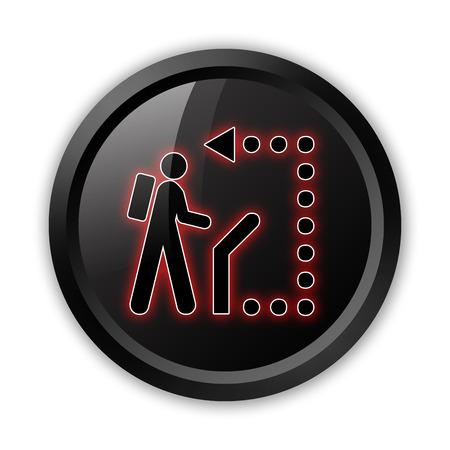 Icon, Button, Pictogram with Self-Guiding Trail symbol Stock Photo