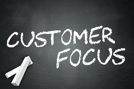 Blackboard with Customer Focus wording