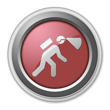 complex system: Icon, Button, Pictogram with Spelunking symbol Stock Photo