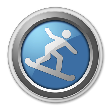 halfpipe: Icon, Button, Pictogram with Snowboarding symbol Stock Photo