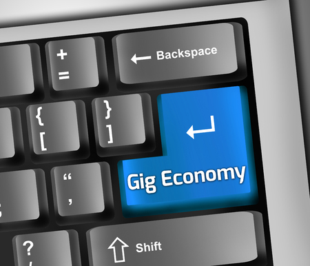 Keyboard Illustration with Gig Economy wording Reklamní fotografie