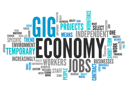 Word Cloud with Gig Economy related tags
