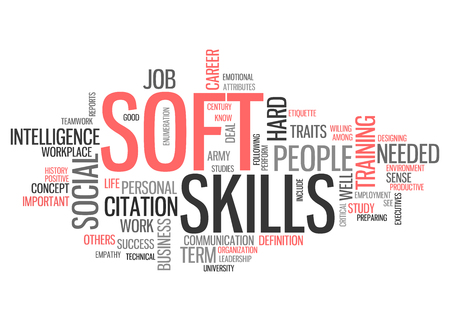 Word Cloud with Soft Skills related tags