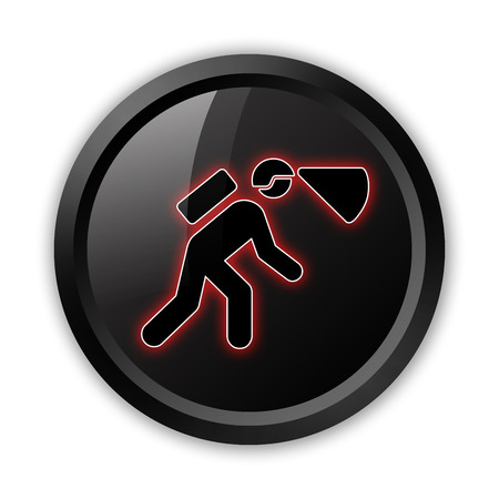Icon, Button, Pictogram with Spelunking symbol Stock Photo