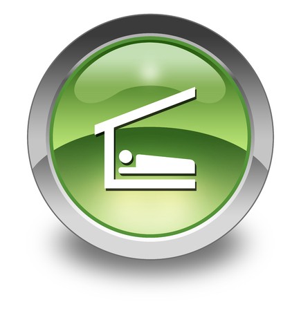 Icon, Button, Pictogram with Sleeping Shelter symbol