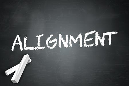 Blackboard met Alignment-tekst Stockfoto