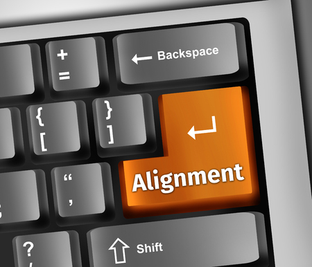 Keyboard Illustration with Alignment wording