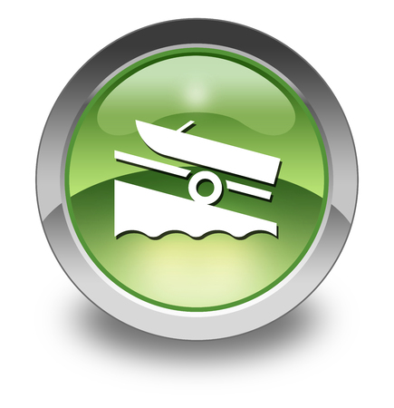 Icon, Button, Pictogram with Boat Ramp symbol Stock fotó
