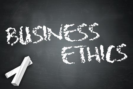 Blackboard with Business Ethics wording Stok Fotoğraf