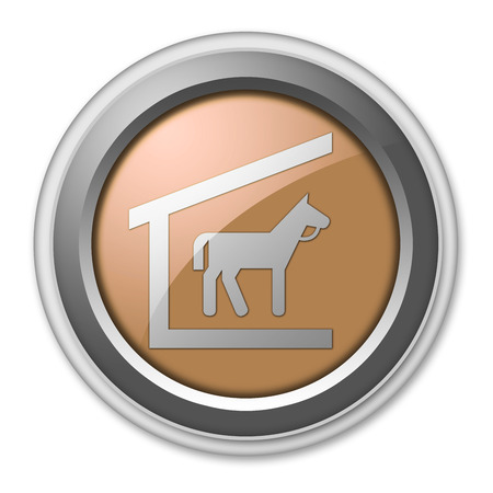 Icon, Button, Pictogram with Stable symbol