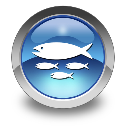 Icon, Button, Pictogram with Fish Hatchery symbol Imagens