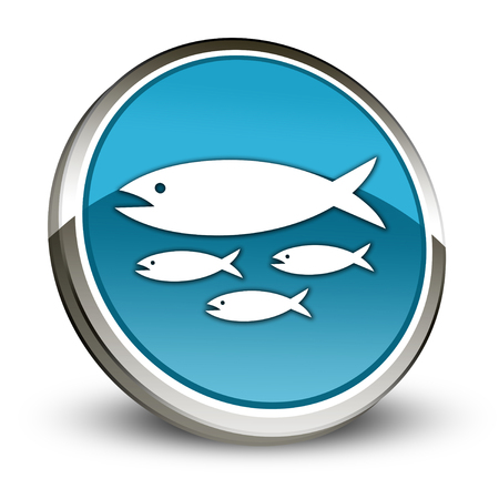 Icon, Button, Pictogram with Fish Hatchery symbol Stock fotó