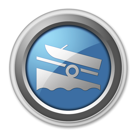 Icon, Button, Pictogram with Boat Ramp symbol Фото со стока