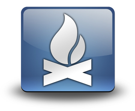 Icon, Button, Pictogram with Campfire symbol