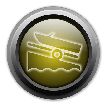 Icon, Button, Pictogram with Boat Ramp symbol Imagens