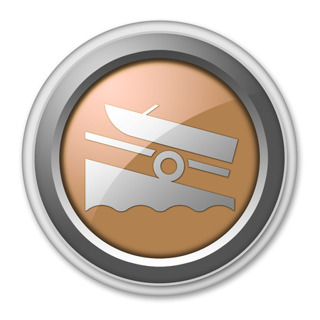 Icon, Button, Pictogram with Boat Ramp symbol Stock Photo