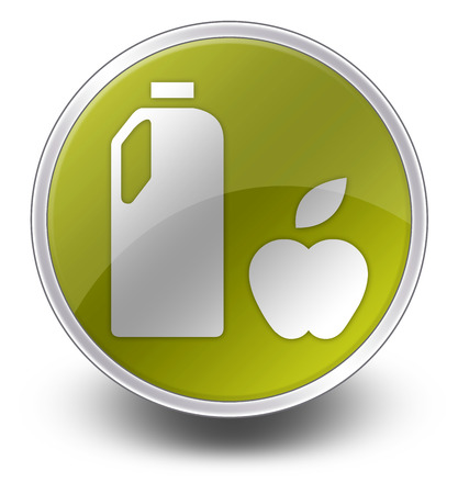 Icon, Button, Pictogram with Groceries symbol