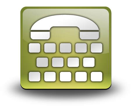 Icon, Button, Pictogram with Telephone Typewriter symbol