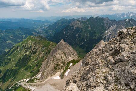 Beautiful mountain hike on the Great Widderstein in the Allg?u Alps in the Kleinwalsertal Imagens
