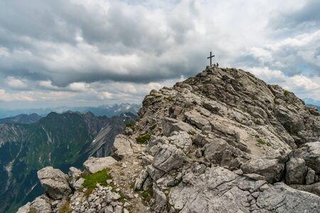 Beautiful mountain hike on the Great Widderstein in the Allg?u Alps in the Kleinwalsertal Stock fotó