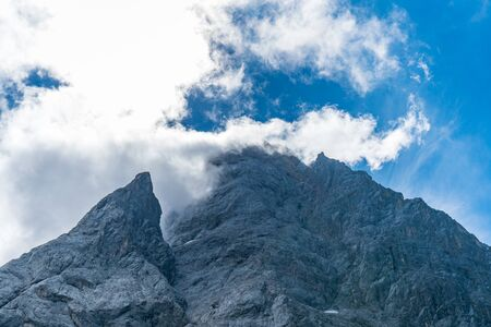 Beautiful hike and climb to the Zugspitze near Ehrwald and Eibsee, the highest mountain in Germany
