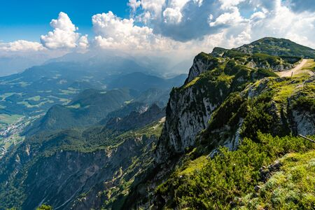 Wonderful hike to the Salzburg high throne via Thomas-Eder-Steig in the Berchtesgadener Land Stockfoto