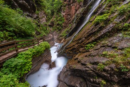 The wild and romantic Wimbachklamm in Ramsau is one of the Berchtesgaden sights in Bavaria. Stock fotó