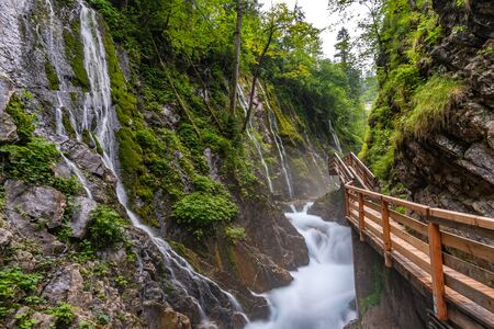 The wild and romantic Wimbachklamm in Ramsau is one of the Berchtesgaden sights in Bavaria.