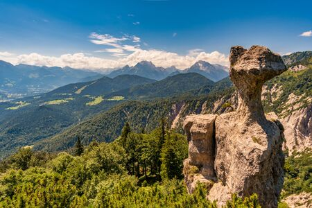 Fantastic hike to the stone Agnes to the Karkopf in the Berchtesgaden Alps 免版税图像