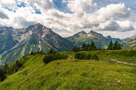 Fantastic hike in the Lechquellen Mountains in Vorarlberg Austria near Lech, Warth, Bludenz