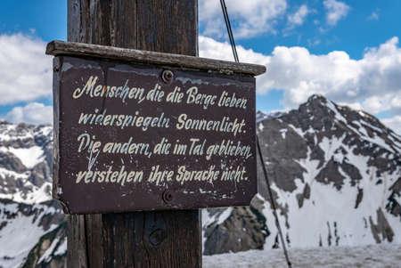 Fantastic crossing of Sonnenkopf, Heidelbeerkopf and Schnippenkopf in the Allgau Alps near Hinang, Sonfhofen