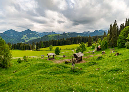 The beautiful Gunzesried valley in the Allgau, near Blaichach, Sonthofen