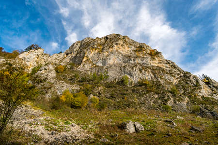 Fantastic autumn hike in the beautiful Danube valley at the Beuron monastery with beautiful views and rocks