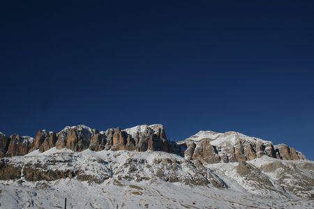 The Dolomites View Stock Photo