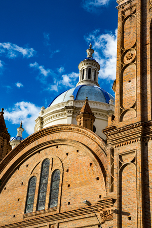 The view from street level of the famous New Cathedral dome in Cuenca, Ecuador Reklamní fotografie
