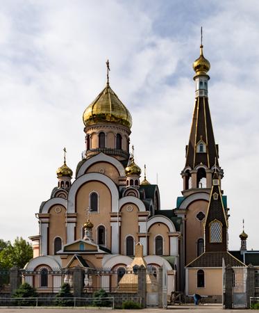 Modern Christian church near Almaty, Kazakhstan Redakční