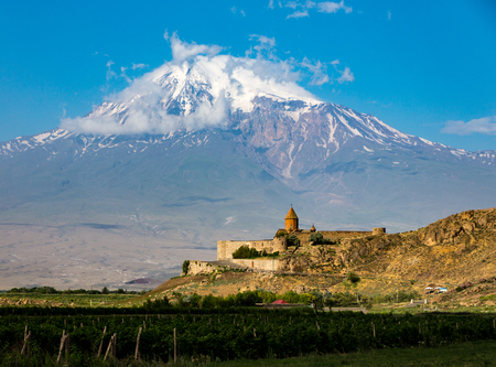 The Tatev Monsastery with Mt Ararat in the background
