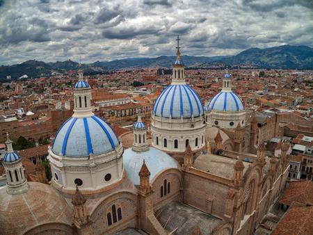 New Cathedral in center of Cuenca, Ecuador
