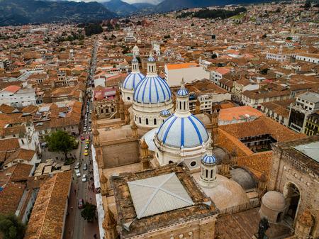 New Cathedral in center of Cuenca, Ecuador, Dec 24, 2017 Editorial