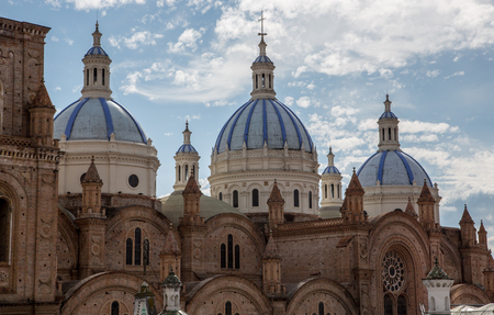 New Cathedral Domes rise over Cuenca, Ecuador in Iconic Image of the City Stock fotó