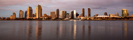 Evening Falls on San Diego as viewed from Coronado Ferry Crossing