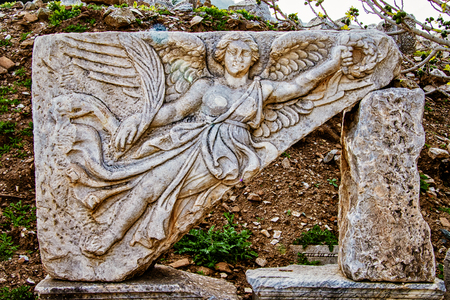 Tablet ruin in Ephesus, Turkey