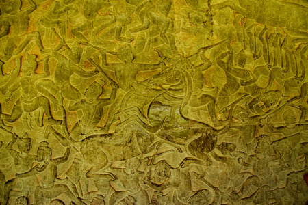 Background texture of golden fabric in Angkor Wat