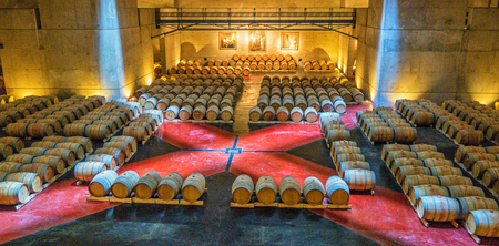 Mendoza, Argentina / Mar 2015 - Underground wine aging for the Bodega Catena Zapata winery